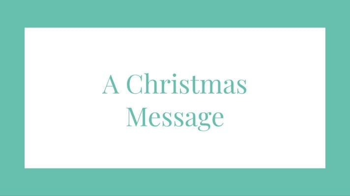 A Christmas Message